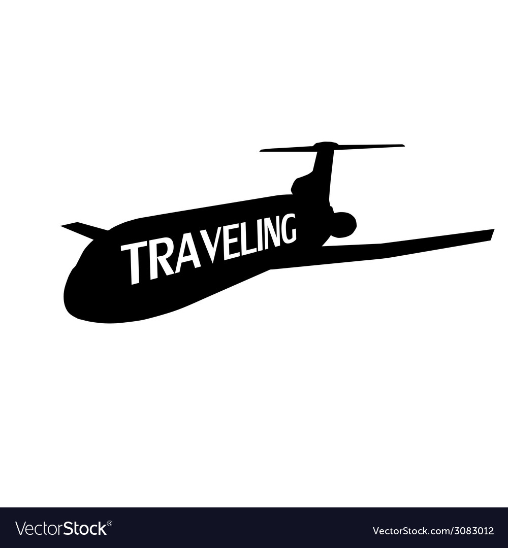 Plane traveling vector | Price: 1 Credit (USD $1)