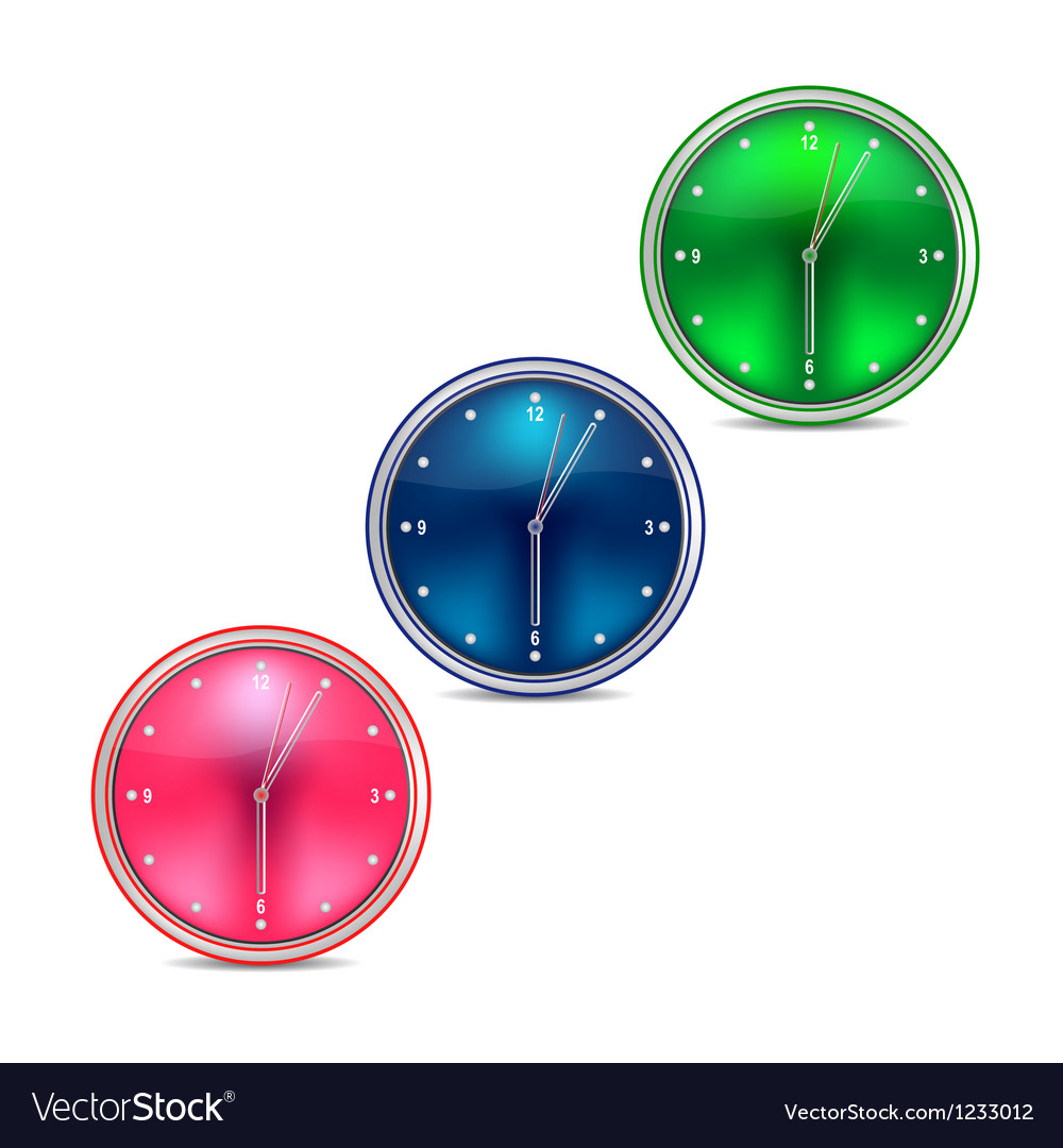 Web clock on a white background vector | Price: 1 Credit (USD $1)
