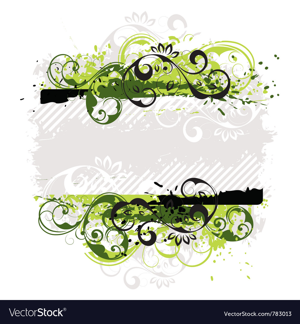 Abstract floral shield vector | Price: 1 Credit (USD $1)
