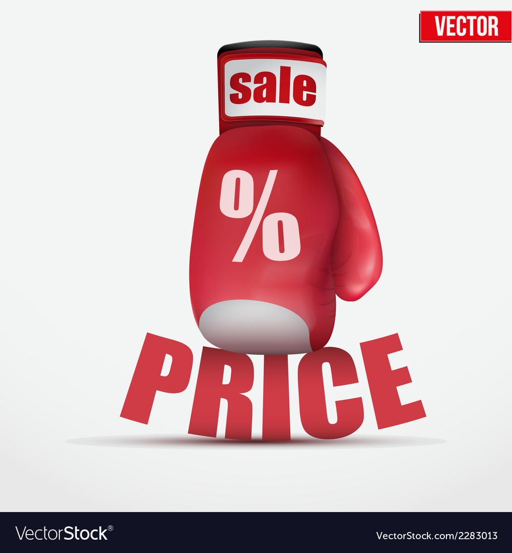 Beat cheap prices boxing glove vector | Price: 1 Credit (USD $1)