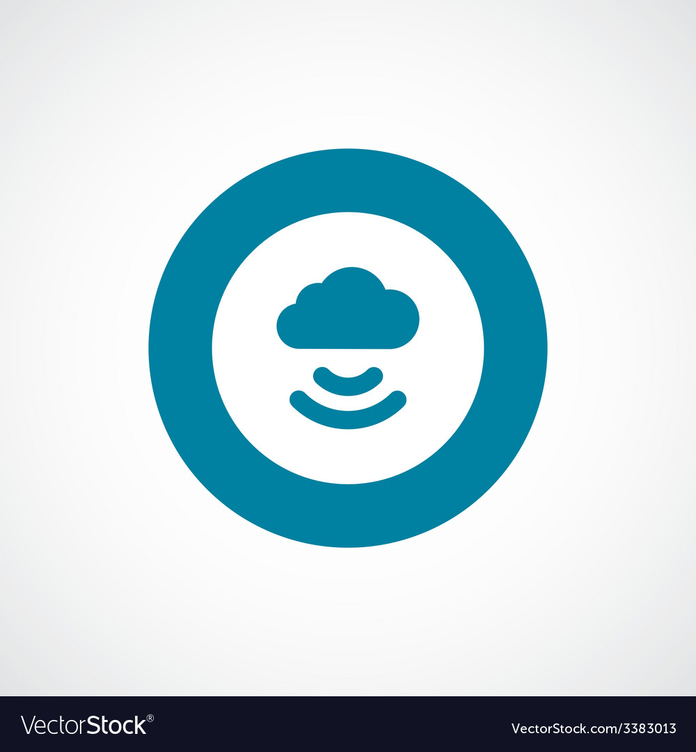 Connect cloud bold blue border circle icon vector | Price: 1 Credit (USD $1)