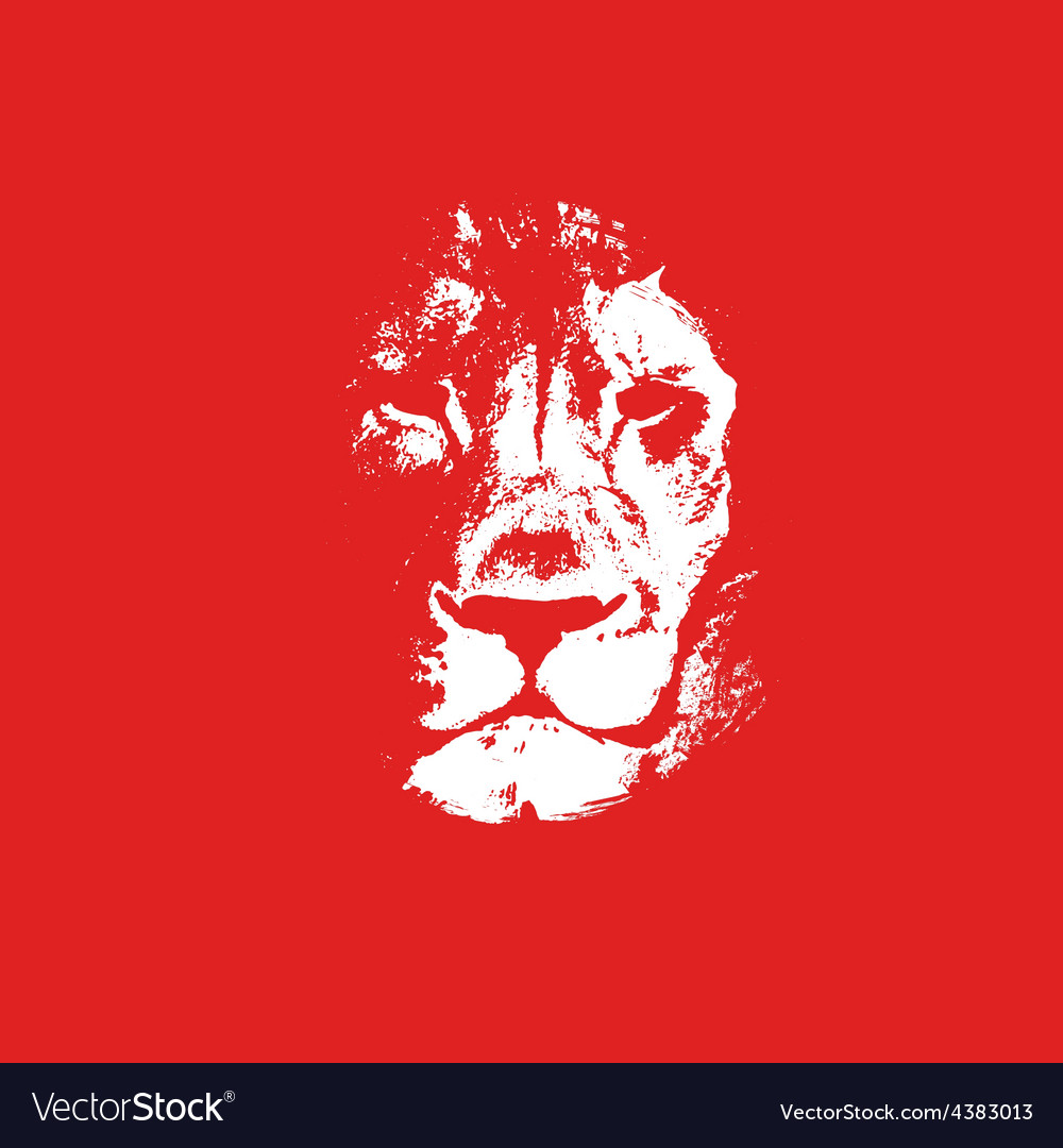 Lion head background poster vector