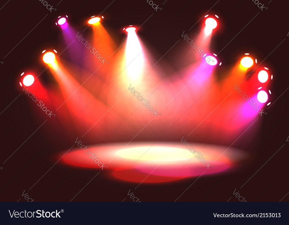 Set of pinky orange stage lights vector | Price: 1 Credit (USD $1)