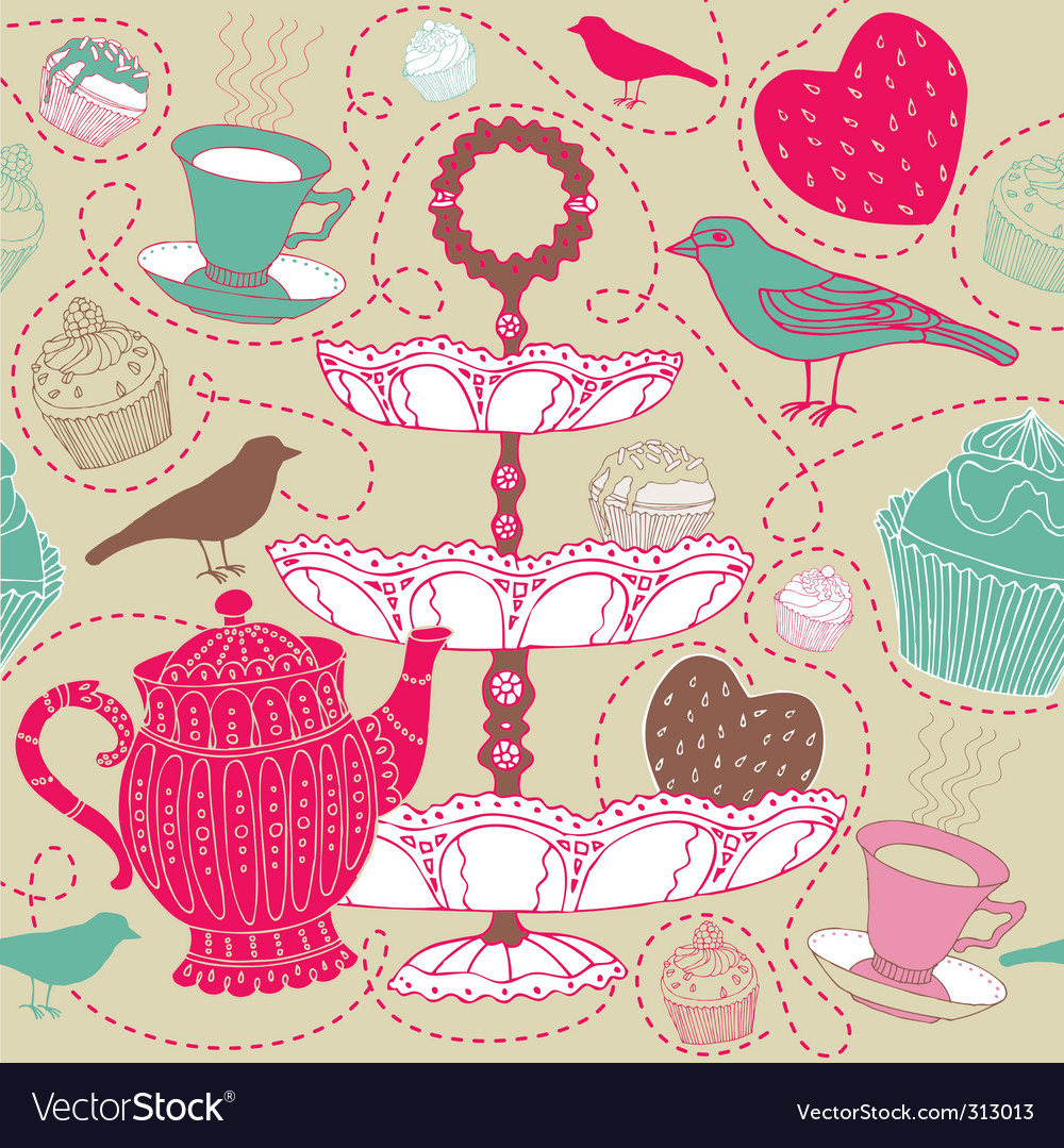 Tea background vector | Price: 1 Credit (USD $1)