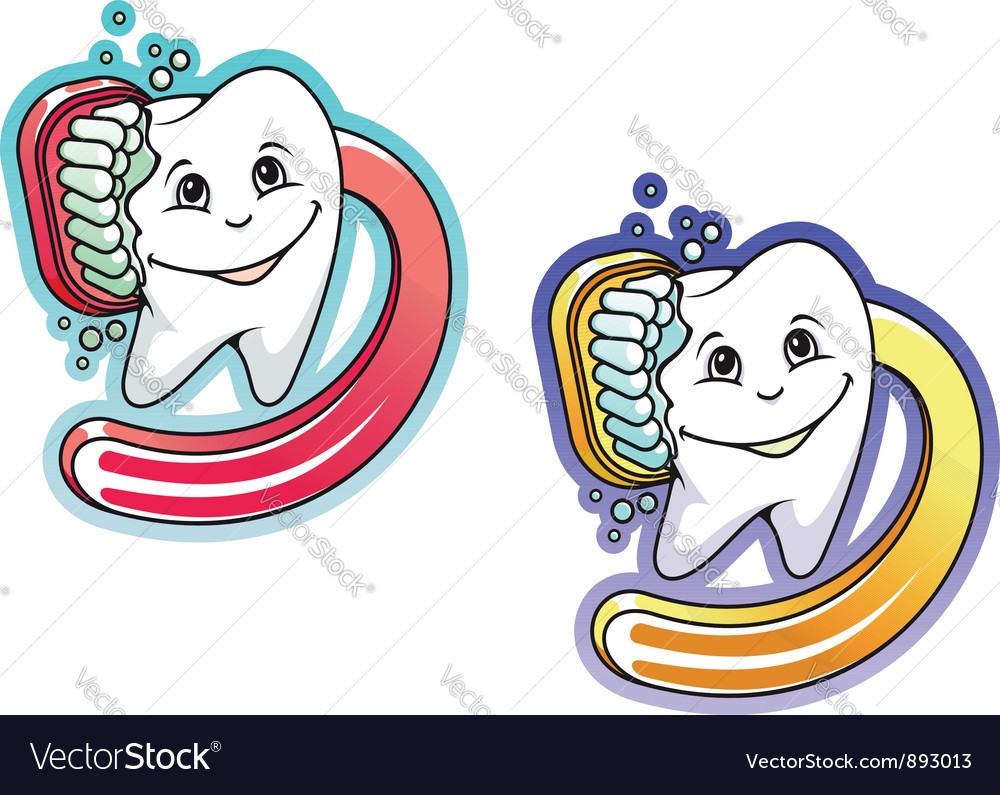 Toothbrush and paste in cartoon style vector | Price: 1 Credit (USD $1)