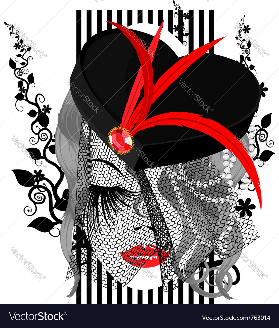 Abstract black-red dame vector | Price: 1 Credit (USD $1)