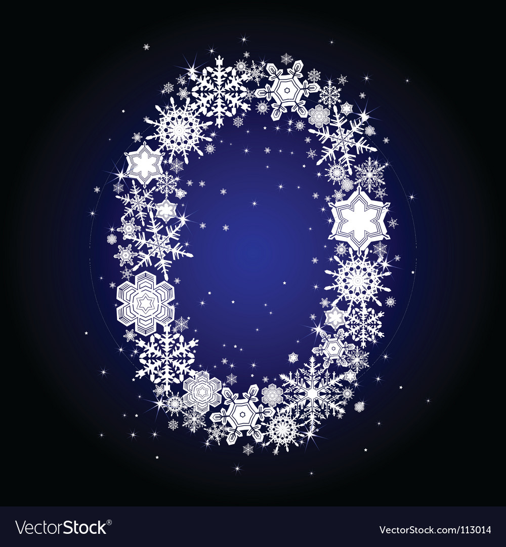 Alphabet snow vector | Price: 1 Credit (USD $1)