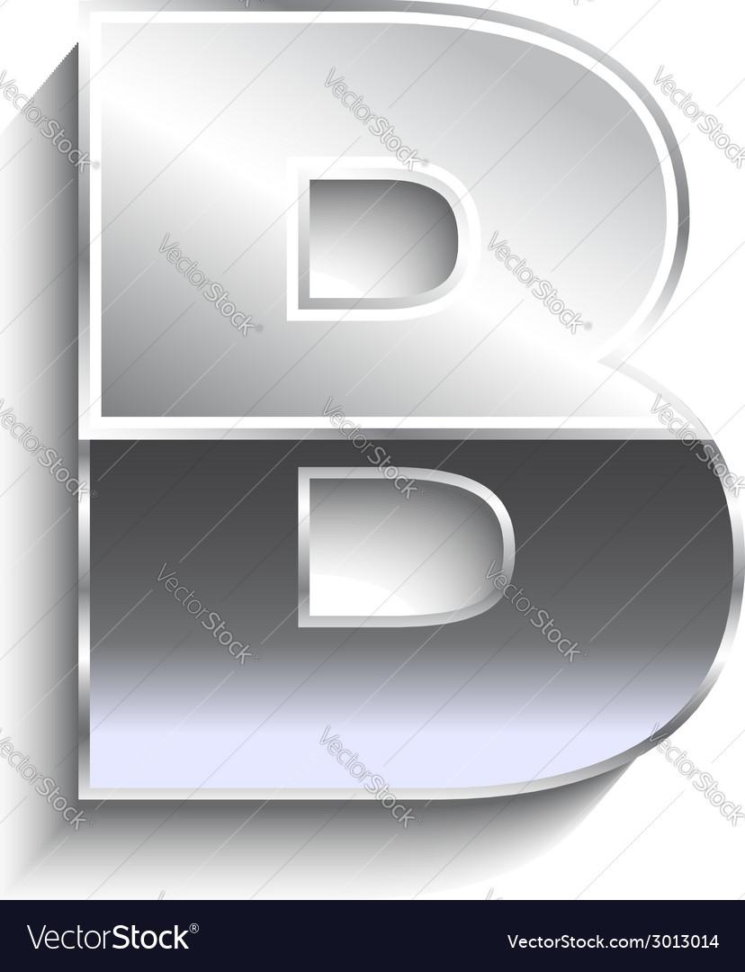 B metal font vector   Price: 1 Credit (USD $1)