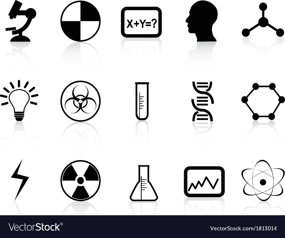 Black science symbols vector | Price: 1 Credit (USD $1)