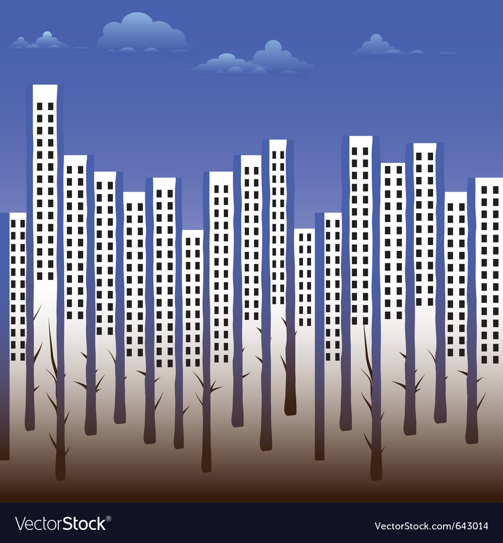 Building silhouette city vector | Price: 1 Credit (USD $1)