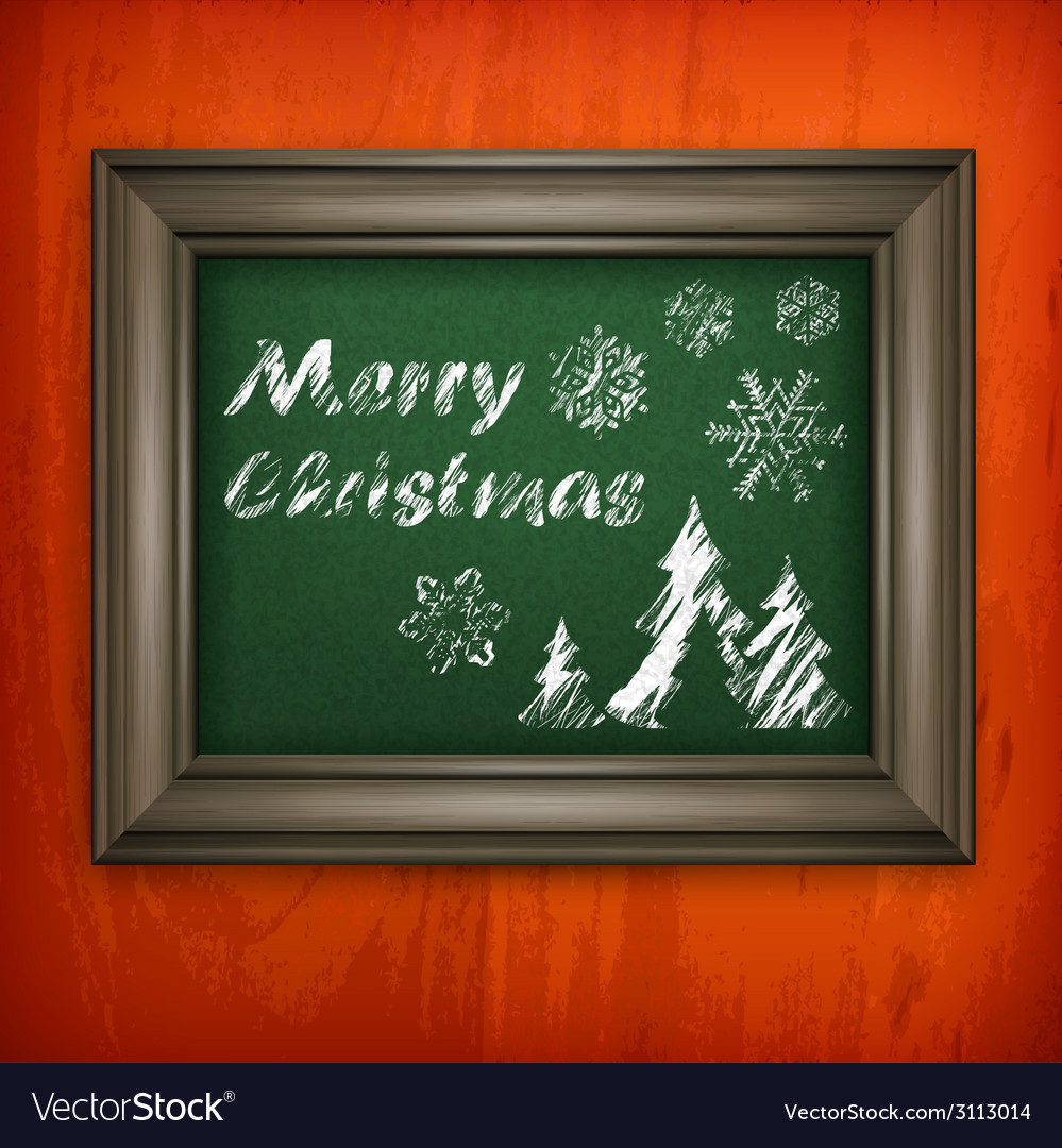 Christmas pattern in frame vector