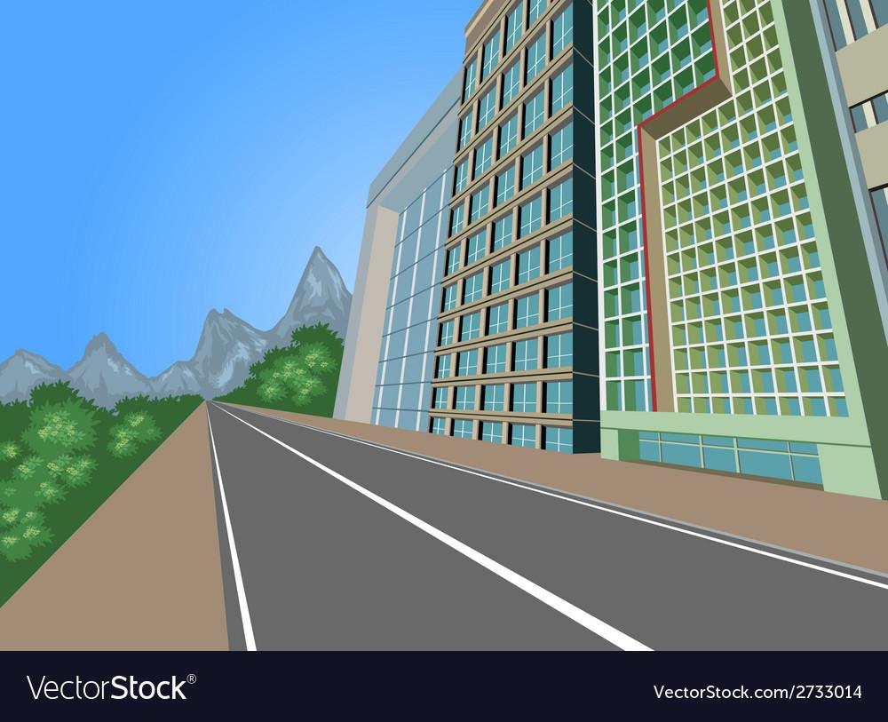 Cityscape scene vector | Price: 1 Credit (USD $1)