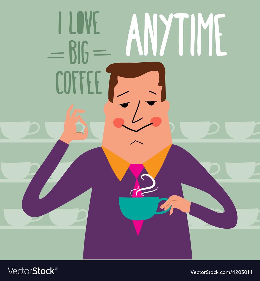 Coffee break businessman drinking coffee vector | Price: 1 Credit (USD $1)