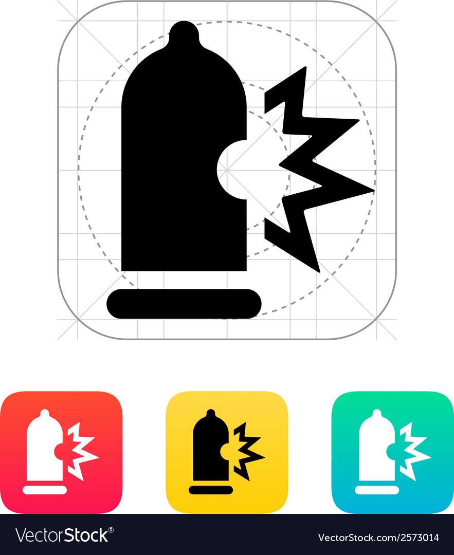 Condom bursting icon vector | Price: 1 Credit (USD $1)