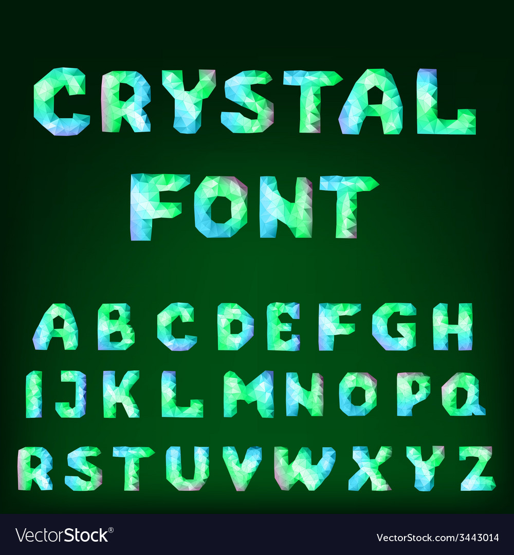 Diamond font vector | Price: 1 Credit (USD $1)