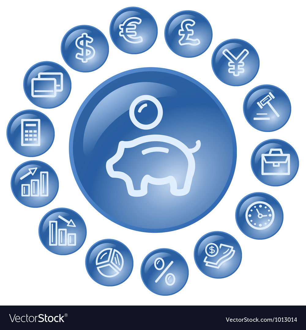 Finance buttons vector   Price: 1 Credit (USD $1)