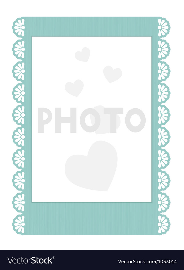 Frilly instant photo frame vector | Price: 1 Credit (USD $1)