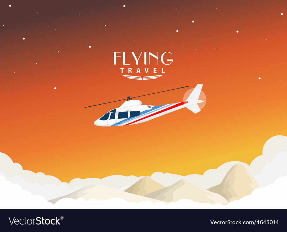 Helicopter travel background vector | Price: 1 Credit (USD $1)