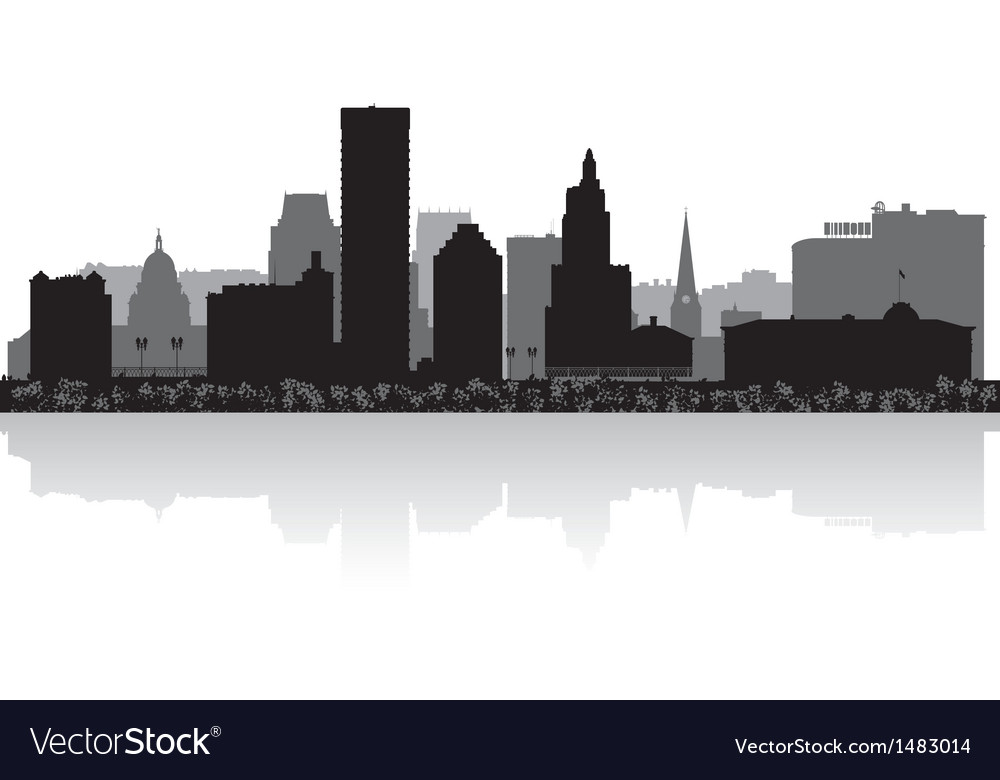 Providence usa city skyline silhouette vector | Price: 1 Credit (USD $1)