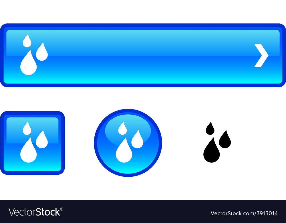 Rain button set vector   Price: 1 Credit (USD $1)