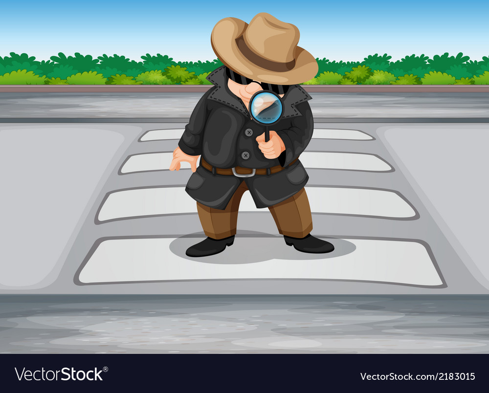 A detective at the pedestrian lane vector | Price: 1 Credit (USD $1)