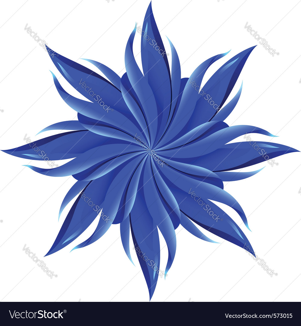 Abstract blue flower vector | Price: 1 Credit (USD $1)