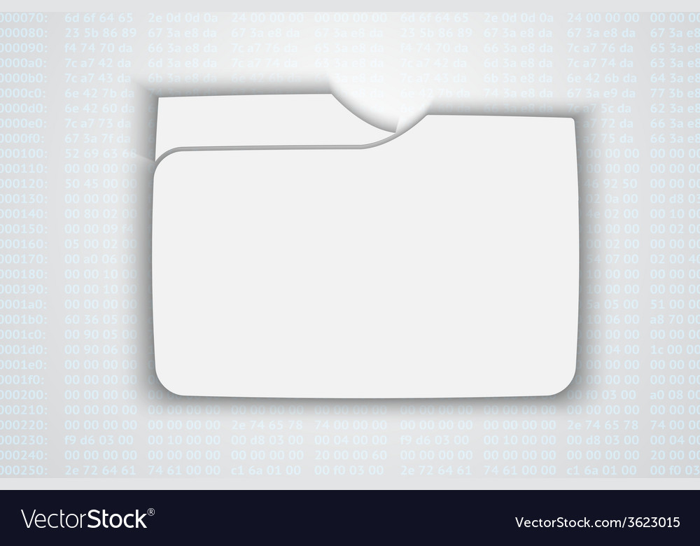 Blank folder vector | Price: 1 Credit (USD $1)