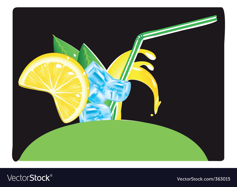 Juice splashes vector | Price: 3 Credit (USD $3)