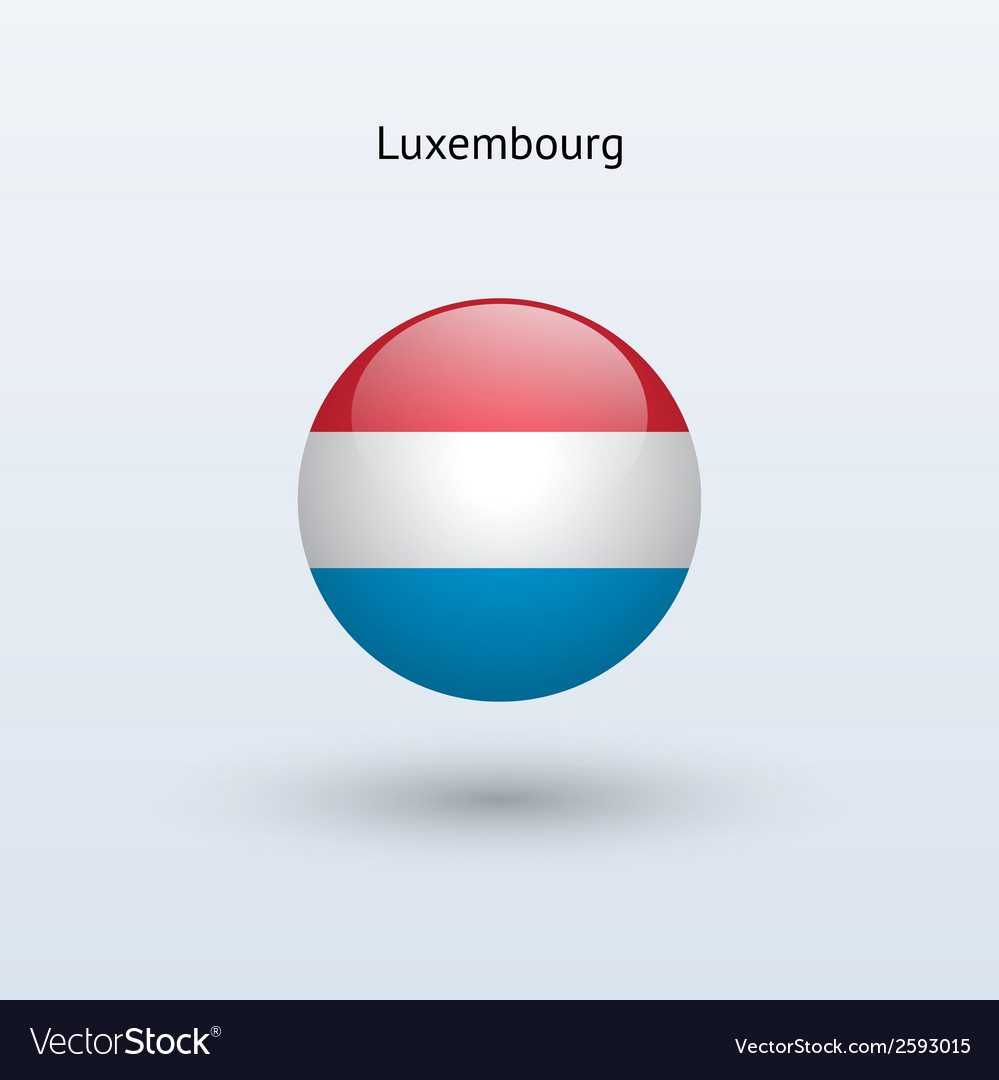 Luxembourg round flag vector | Price: 1 Credit (USD $1)