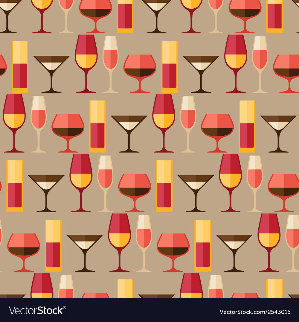 Restaurant or bar seamless pattern with different vector | Price: 1 Credit (USD $1)