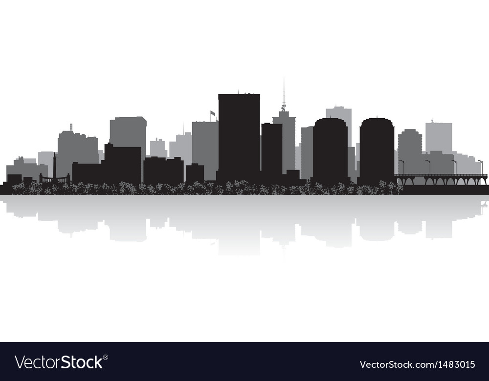 Richmond usa city skyline silhouette vector | Price: 1 Credit (USD $1)