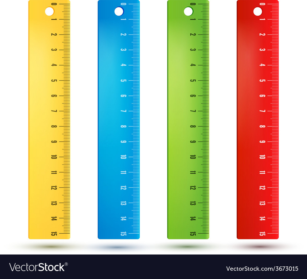 Rulers in centimeters vector | Price: 1 Credit (USD $1)
