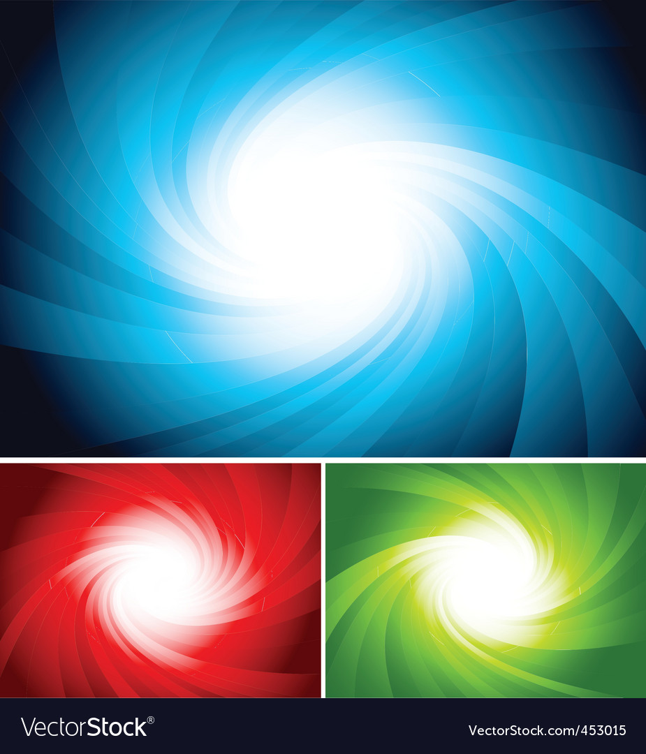 Set of colorful swirl background vector | Price: 1 Credit (USD $1)