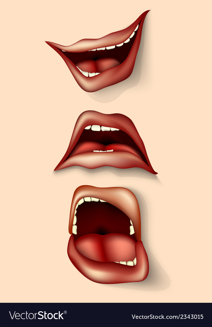Set of lips and mouths vector   Price: 1 Credit (USD $1)
