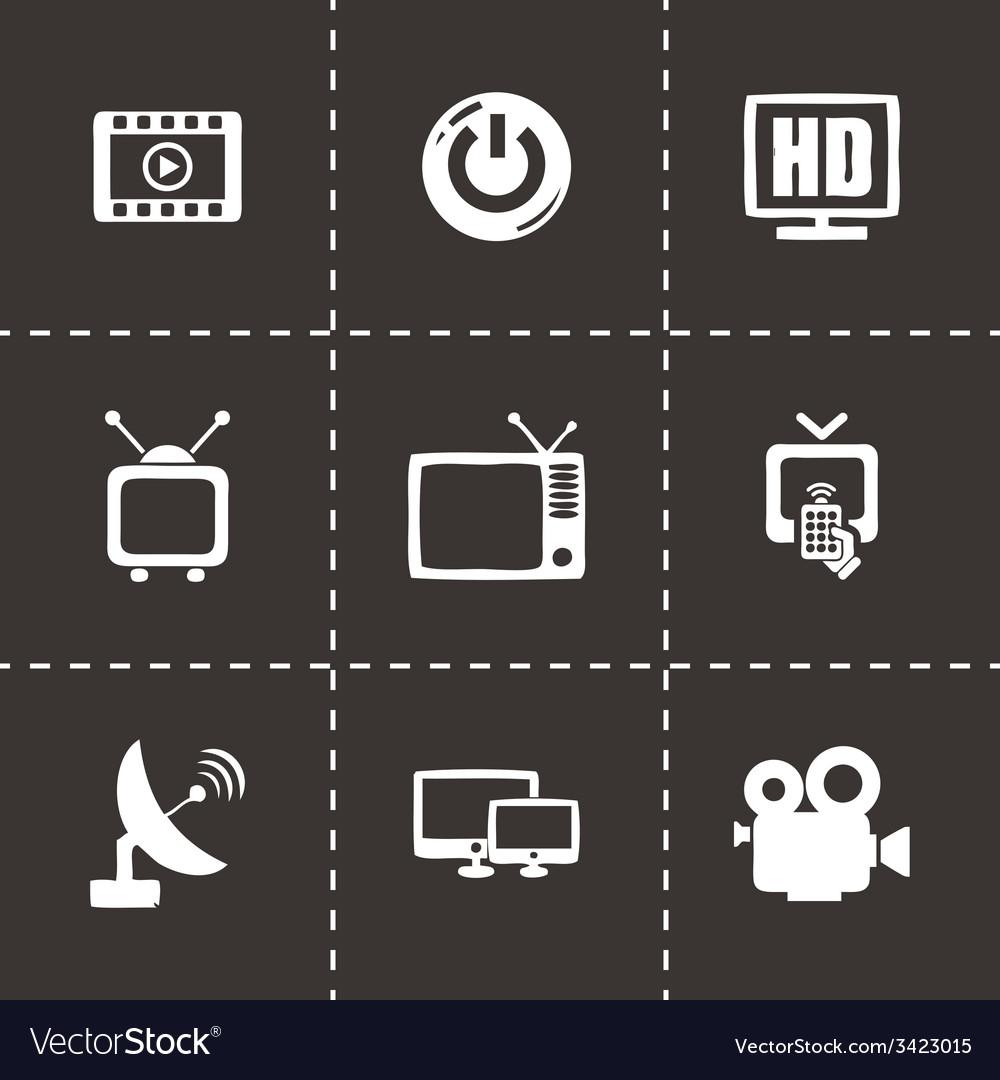 Tv icon set vector | Price: 1 Credit (USD $1)