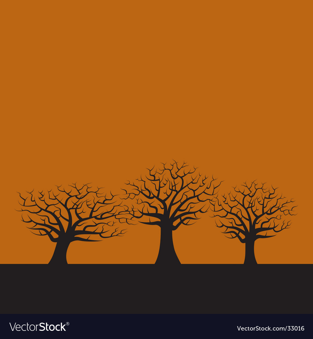 3 trees vector | Price: 1 Credit (USD $1)