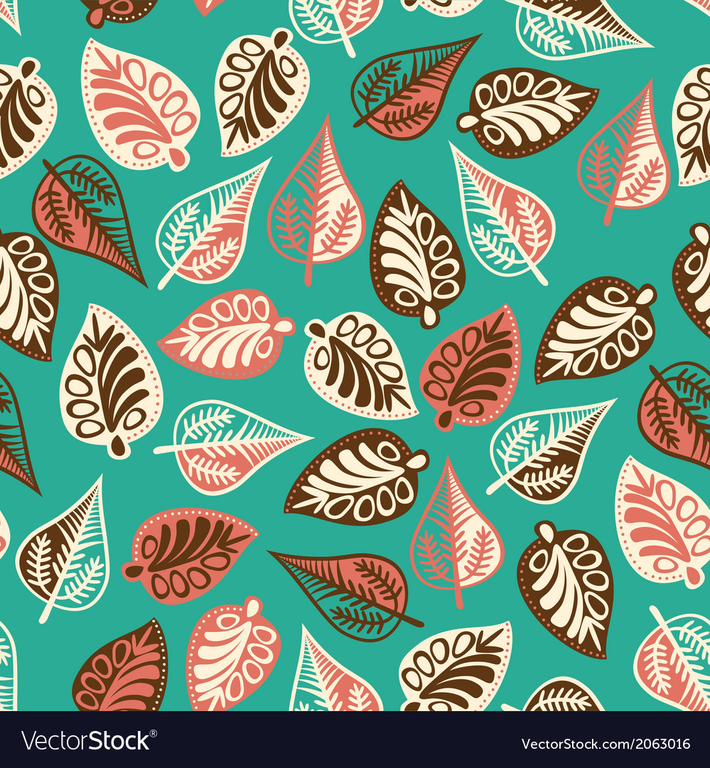 A seamless pattern with leafautumn leaf background vector | Price: 1 Credit (USD $1)