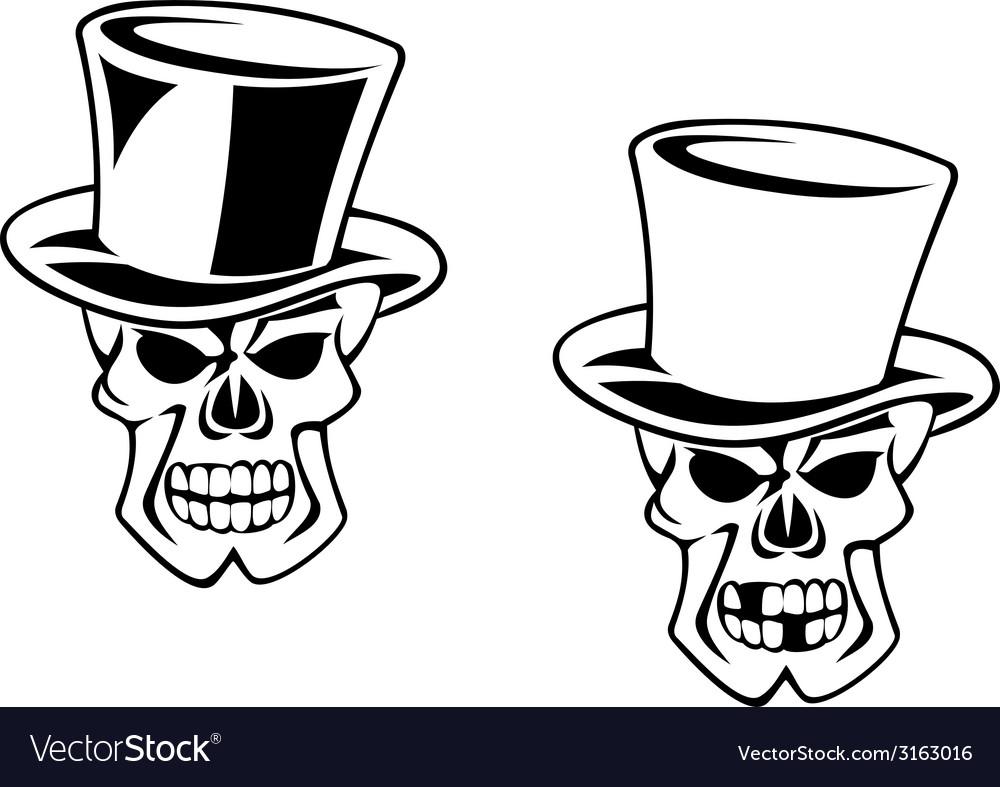 Black skull in heat vector   Price: 1 Credit (USD $1)