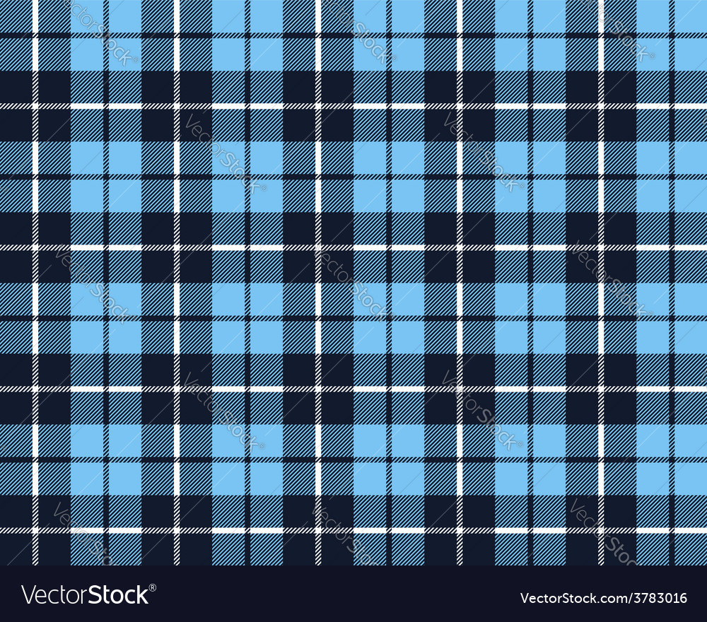 Blue tartan fabric texture pattern seamless vector | Price: 1 Credit (USD $1)