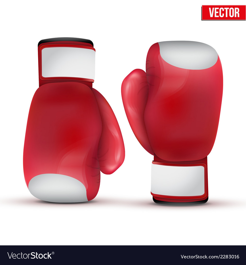 Boxing gloves isolated on white background vector | Price: 1 Credit (USD $1)