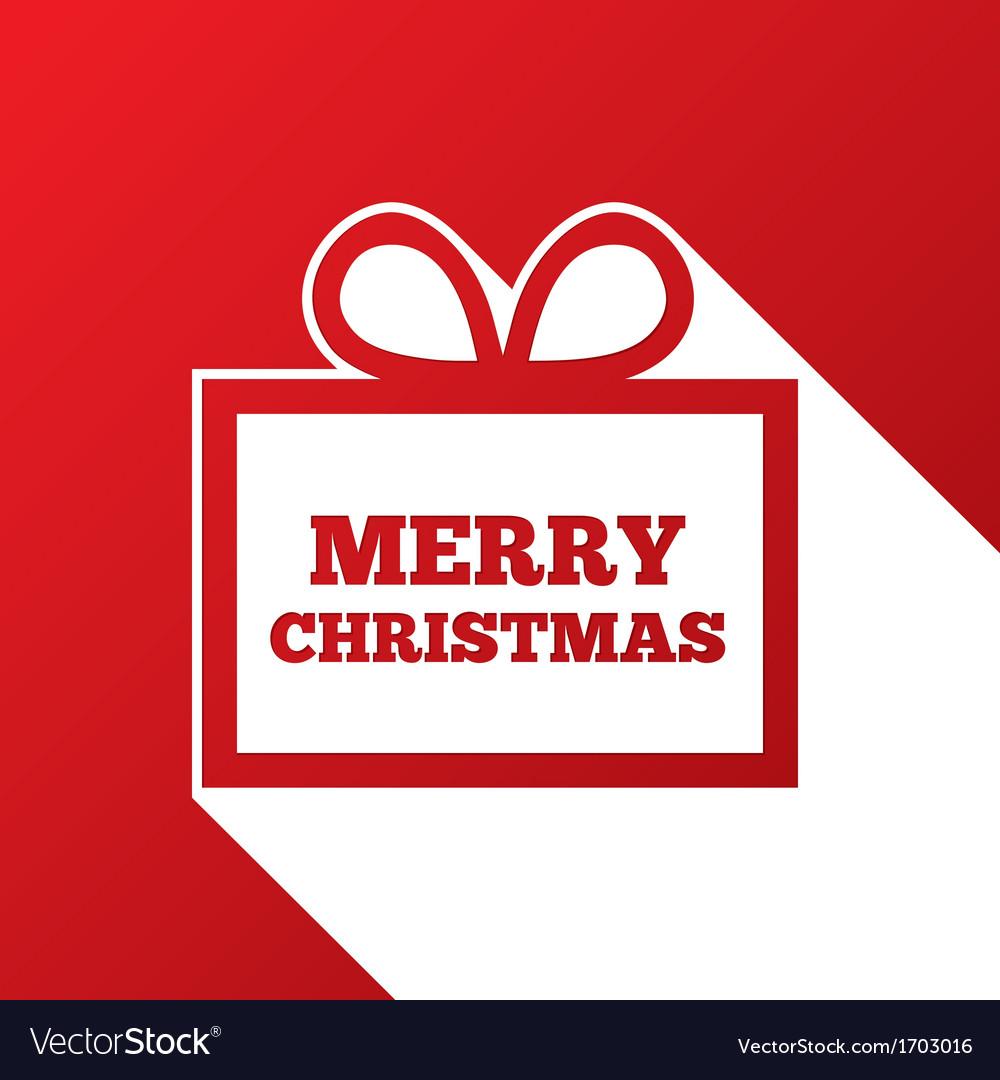 Christmas greeting card christmas paper gift box vector | Price: 1 Credit (USD $1)