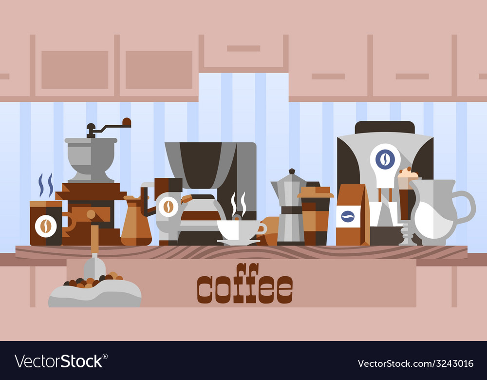 Coffee home concept vector | Price: 1 Credit (USD $1)