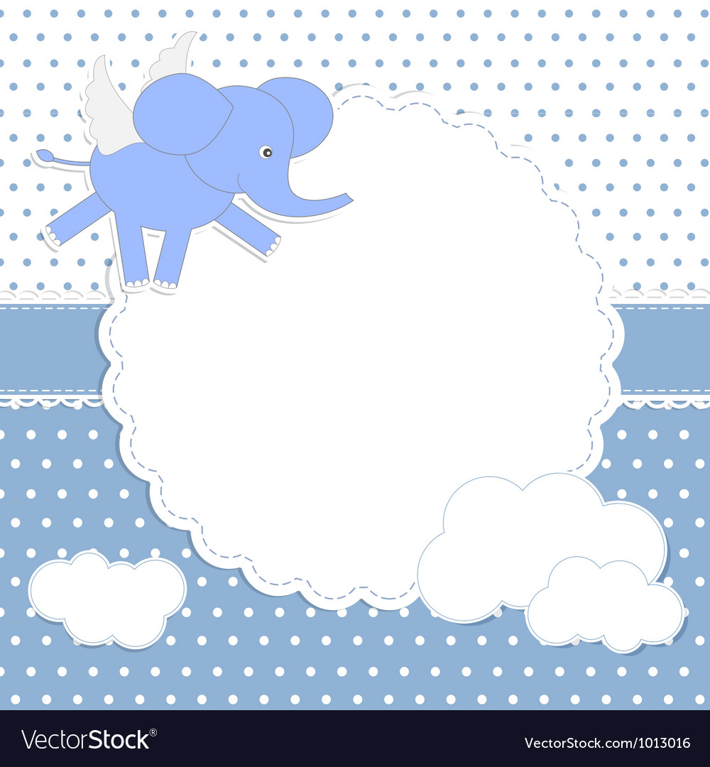 Cute baby boy card vector | Price: 1 Credit (USD $1)