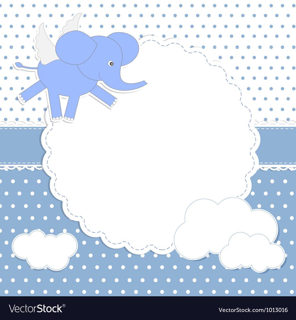 Cute baby boy card vector | Price: 1 Credit (USD $1)