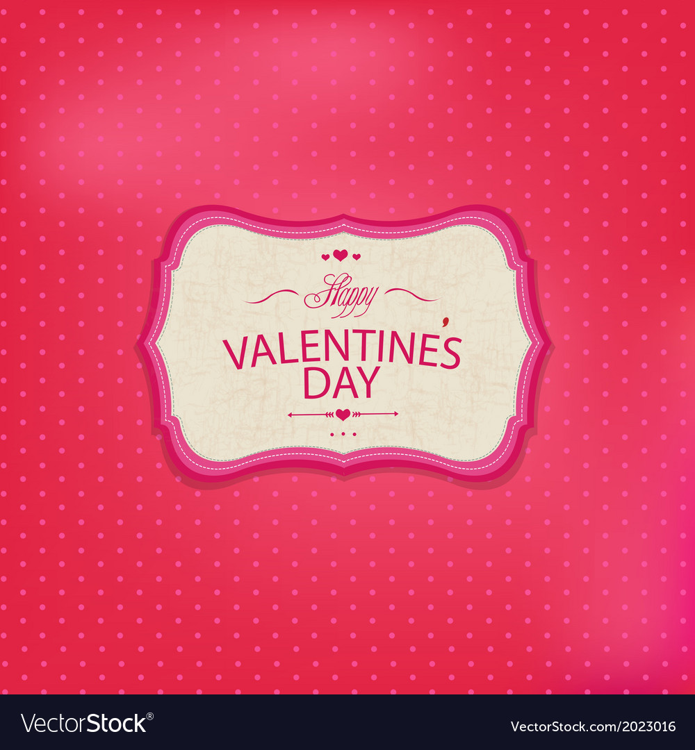 Pink valentines day card vector | Price: 1 Credit (USD $1)