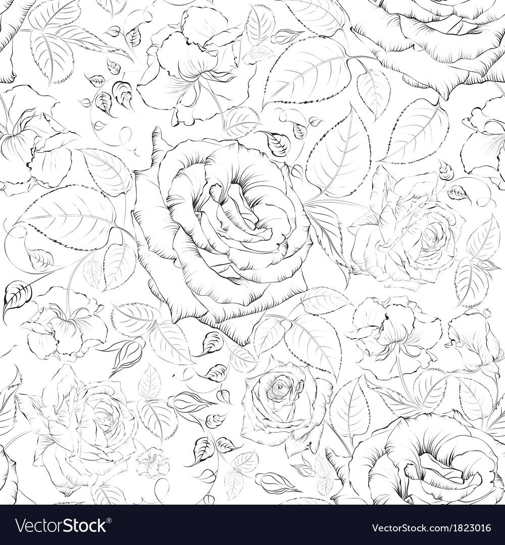 Rose seamless vector | Price: 1 Credit (USD $1)