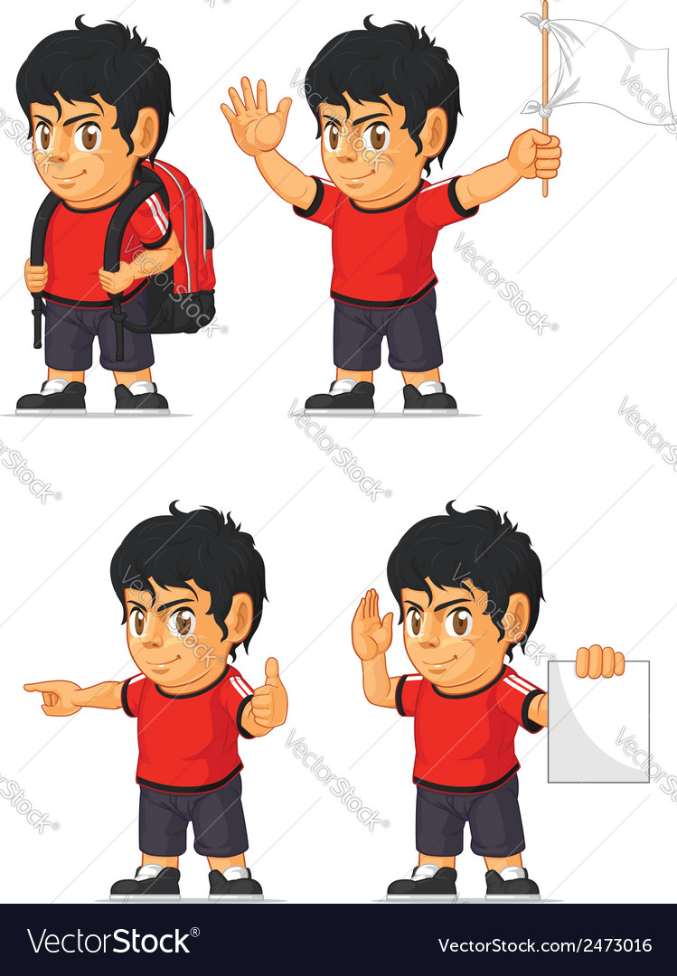 Soccer boy customizable mascot 12 vector | Price: 1 Credit (USD $1)