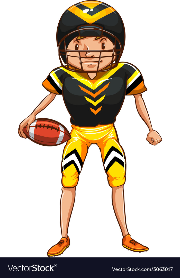 An american football player vector | Price: 1 Credit (USD $1)