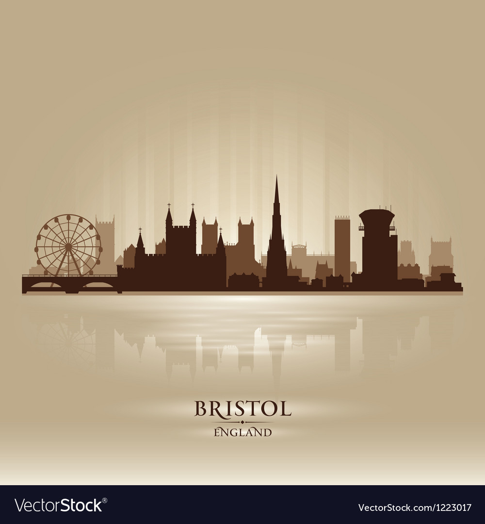 Bristol england skyline city silhouette vector | Price: 1 Credit (USD $1)