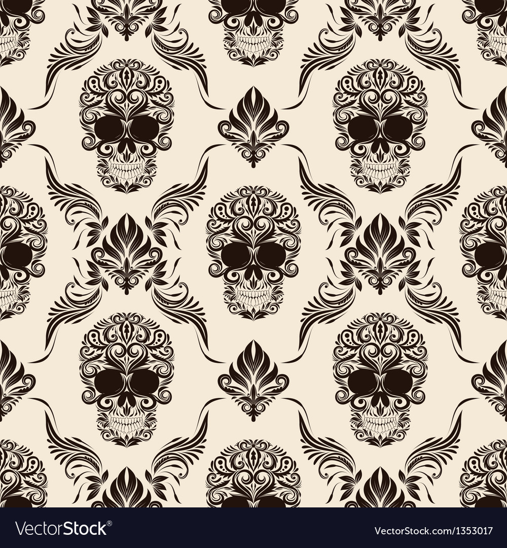 Brown skull pattern vector | Price: 1 Credit (USD $1)